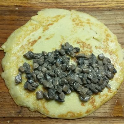 Фото рецепта - Картофельные блины с шампиньонами - шаг 6