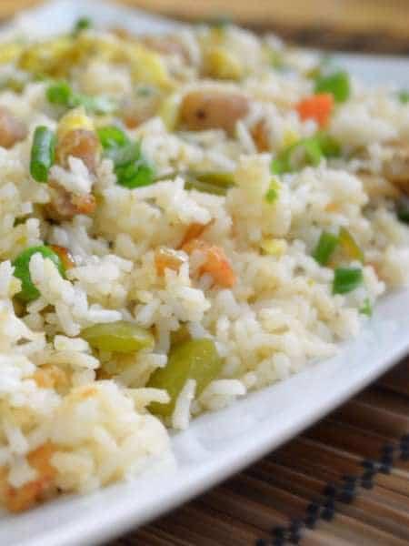 Курица с рисом, овощами