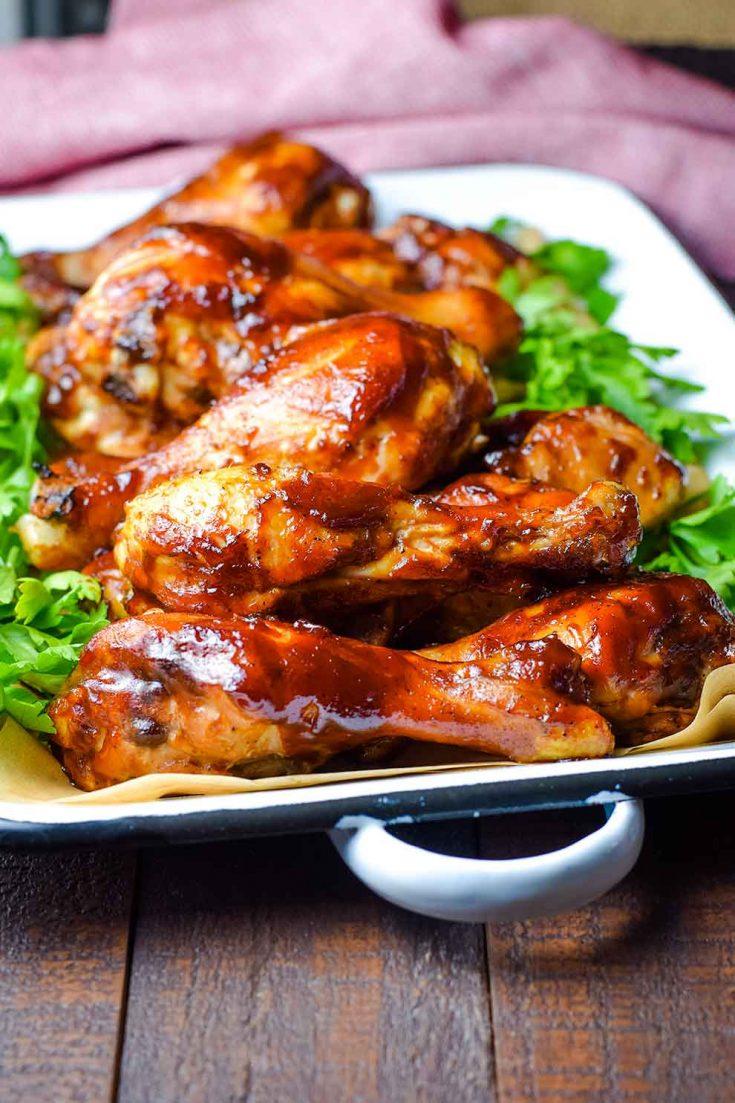 Куриные голени, запеченные в соусе барбекю с медом