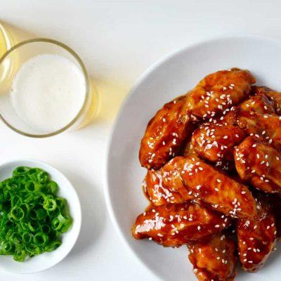 Запеченные куриные крылышки, глазированные в Терияки - рецепт с фото