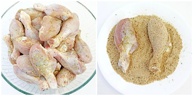 Фото рецепта - Запеченные куриные ножки в панировке - шаг 3