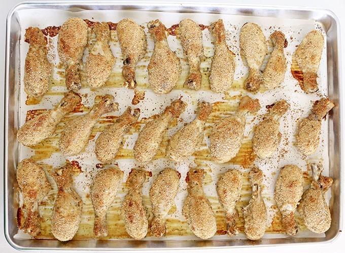 Фото рецепта - Запеченные куриные ножки в панировке - шаг 5