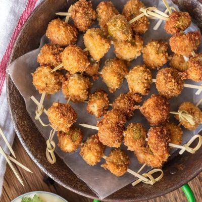 Жареные куриные шашлычки в панировке из сыра - рецепт с фото