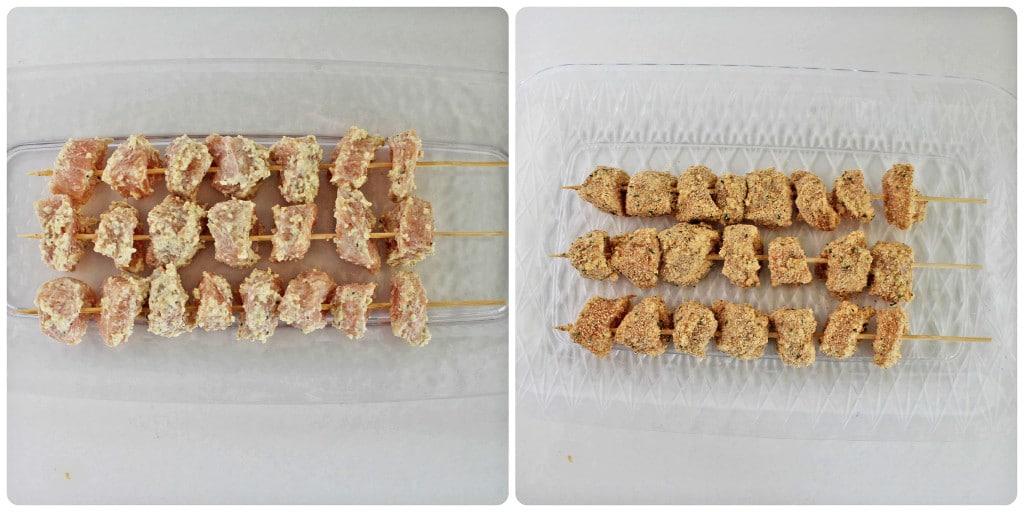 Фото рецепта - Жареные куриные шашлычки в панировке из сыра - шаг 5
