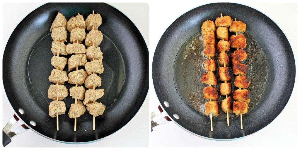 Фото рецепта - Жареные куриные шашлычки в панировке из сыра - шаг 6