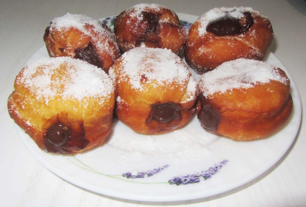 Фото рецепта - Дрожжевые пончики берлинеры - шаг 6