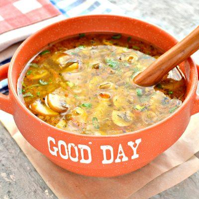 Куриный суп с лапшой и шампиньонами - рецепт с фото