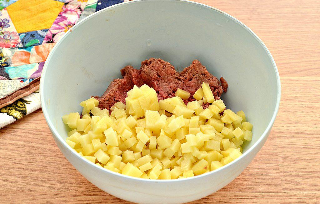 Фото рецепта - Курник с фаршем (мясной пирог) - шаг 2
