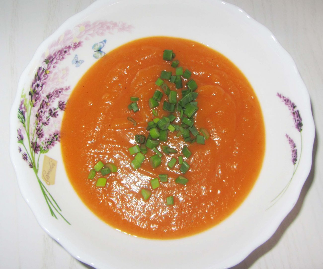 Постный суп-пюре из тыквы, моркови и картофеля