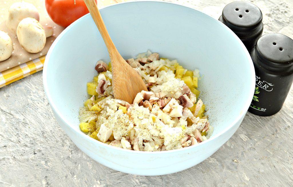 Фото рецепта - Постные манты с грибами и картошкой - шаг 3
