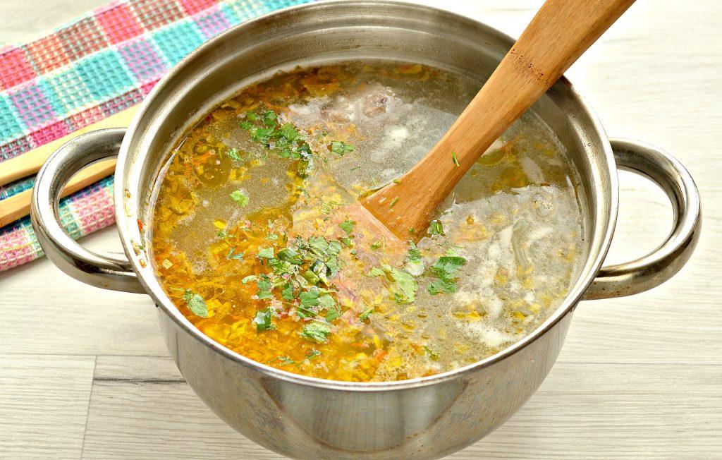 Фото рецепта - Рисовый суп со свининой - шаг 7