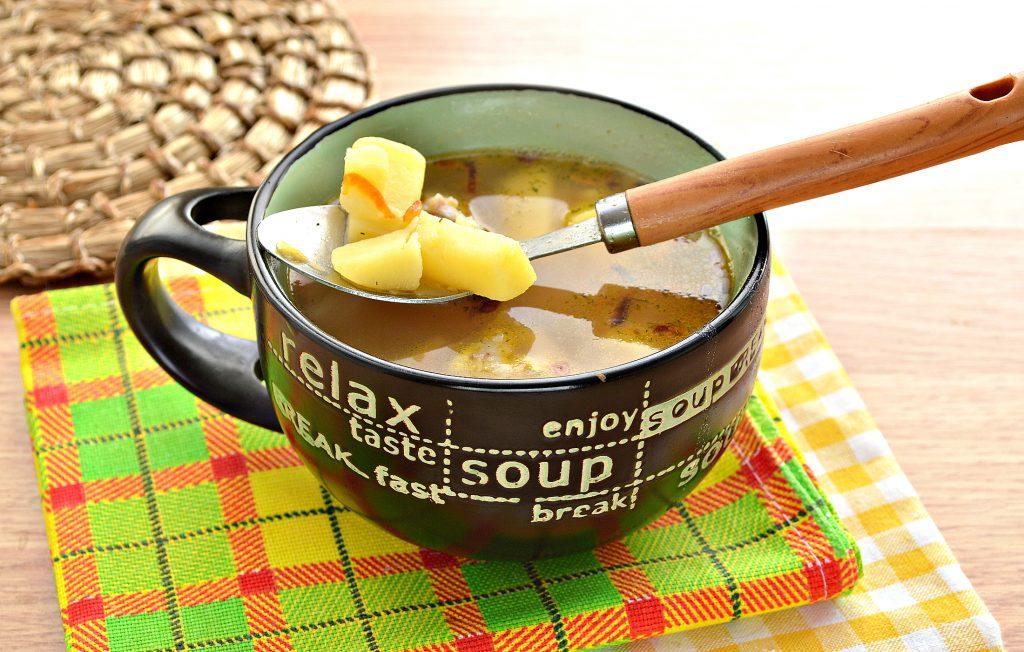 Фото рецепта - Гороховый суп с говядиной - шаг 7