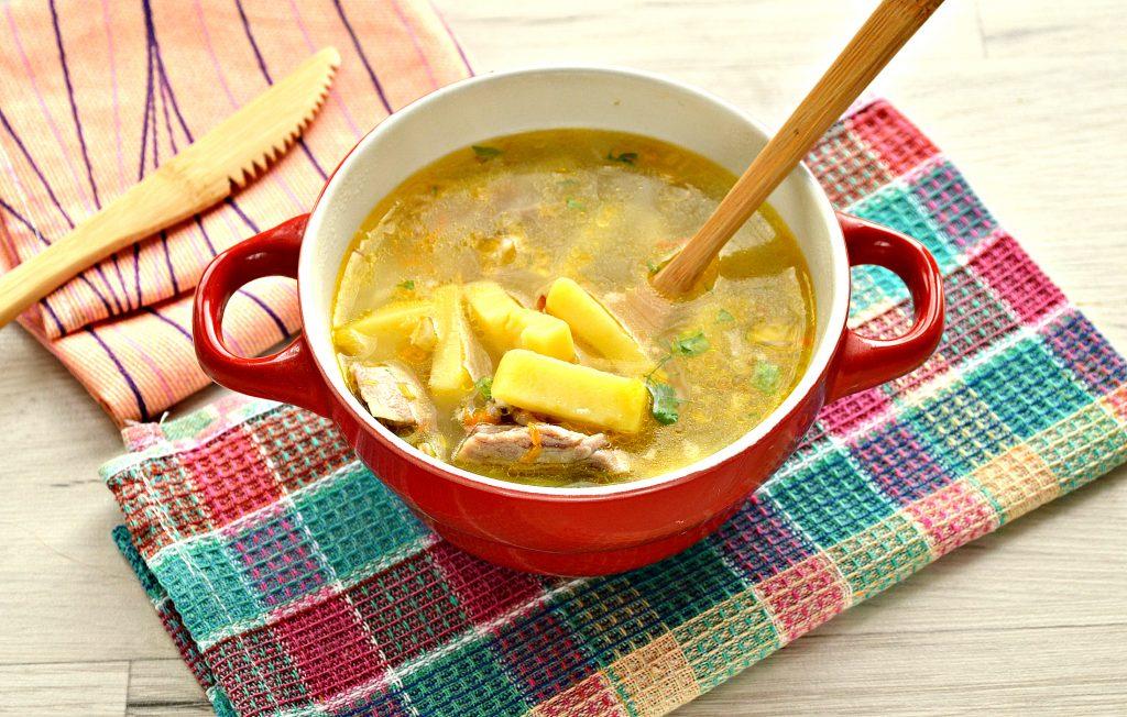 Фото рецепта - Рисовый суп со свининой - шаг 8