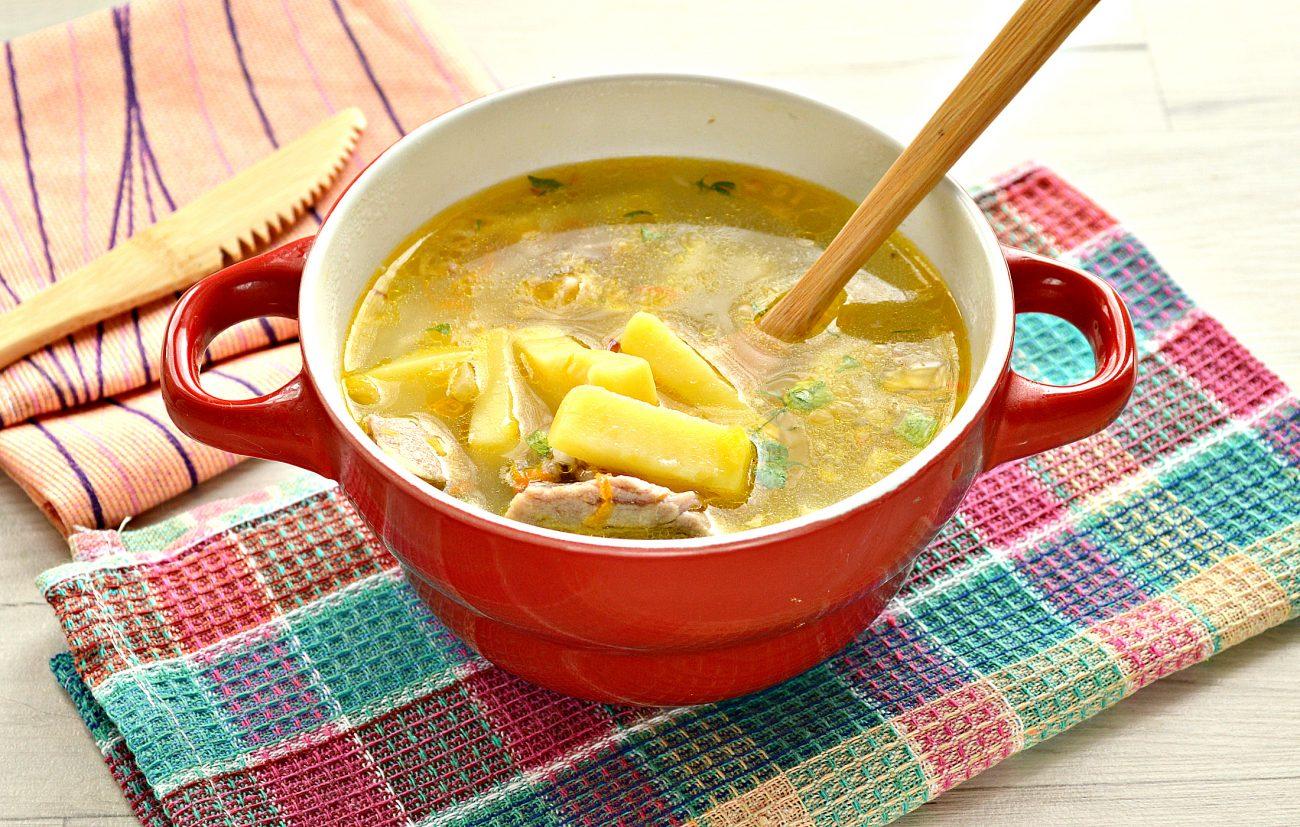 Рисовый суп со свининой