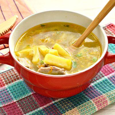 Рисовый суп со свининой - рецепт с фото