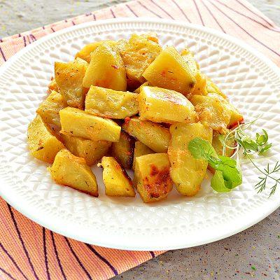 """Картофель """"Паутинка"""" с сыром - рецепт с фото"""