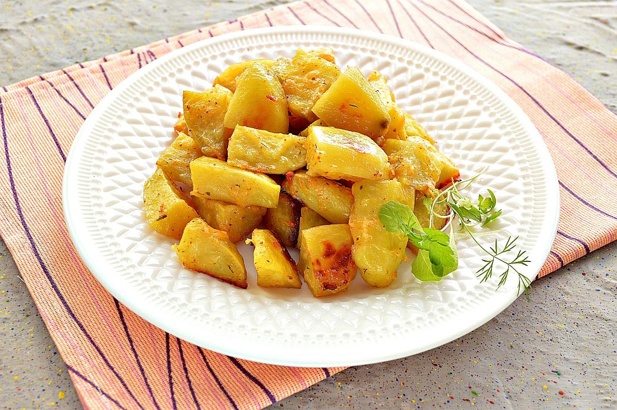 """Картофель """"Паутинка"""" с сыром"""