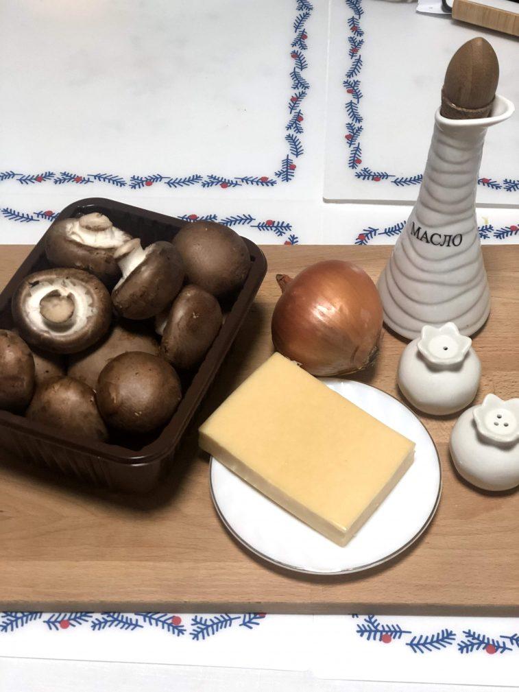 Фото рецепта - Фаршированные шампиньоны с сыром - шаг 1