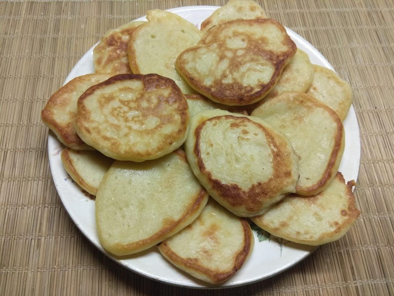 Картофельные оладьи на молоке