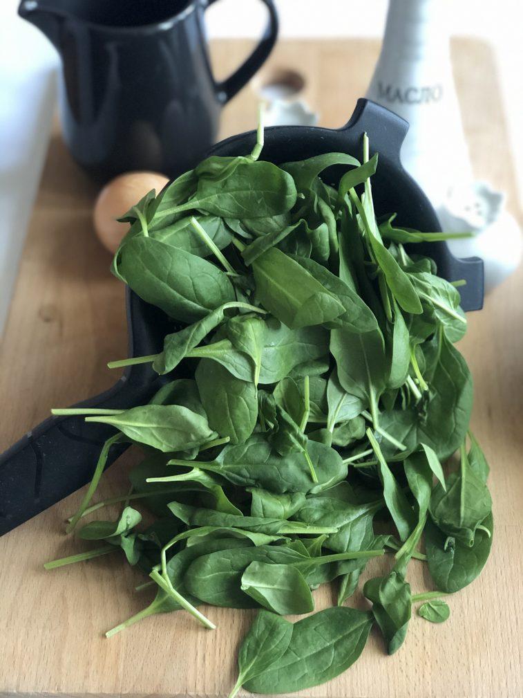 Фото рецепта - Омлет со шпинатом - шаг 1