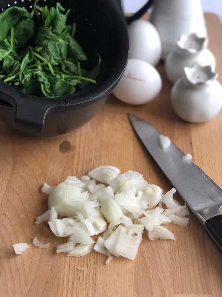 Фото рецепта - Омлет со шпинатом - шаг 3