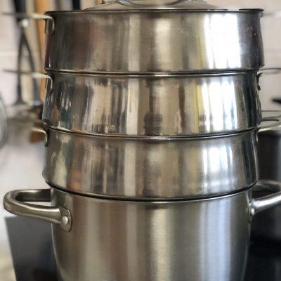 Фото рецепта - Манты с тыквой и луком - шаг 10