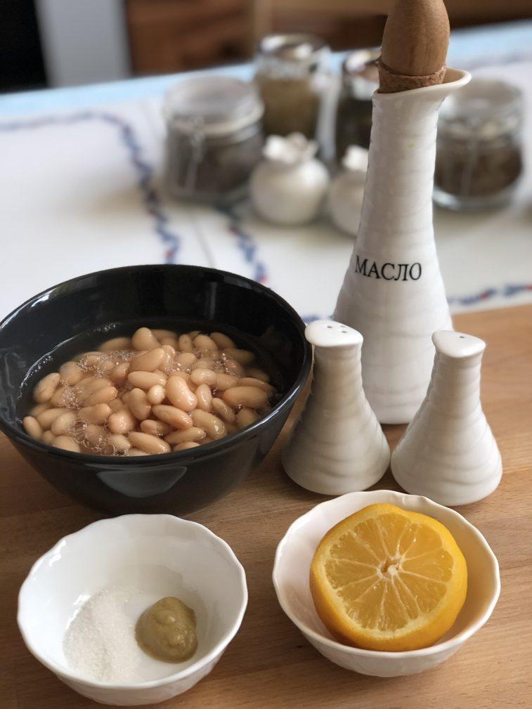 Фото рецепта - Соус из белой фасоли - шаг 1