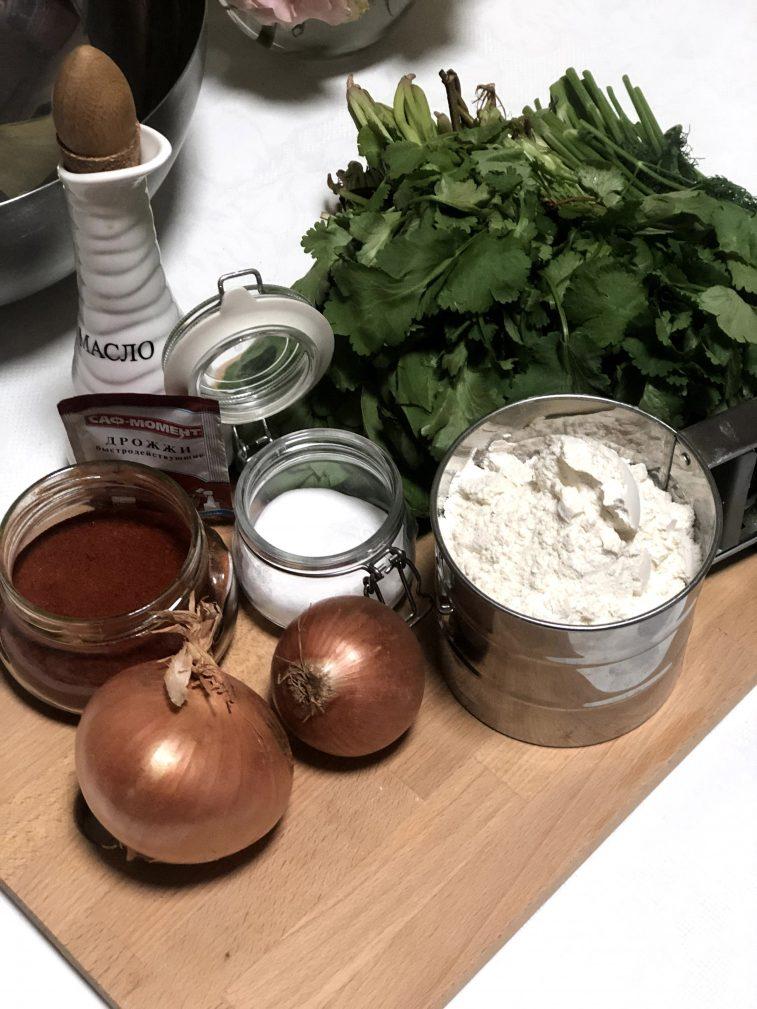Фото рецепта - Лепешки с зеленью по-армянски - шаг 1