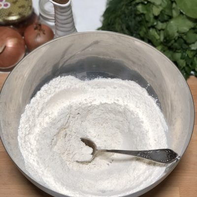 Фото рецепта - Лепешки с зеленью по-армянски - шаг 5