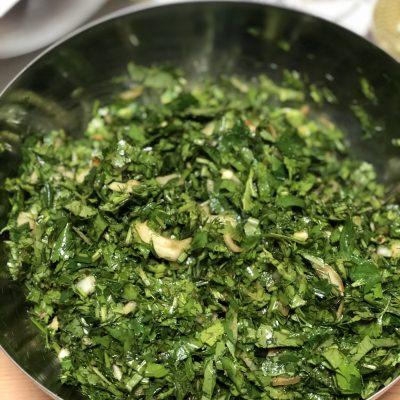 Фото рецепта - Лепешки с зеленью по-армянски - шаг 10