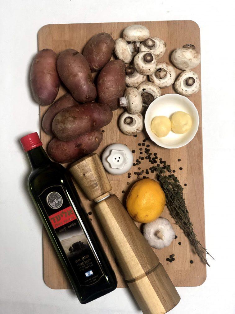 Фото рецепта - Запеченный картофель с грибами - шаг 1