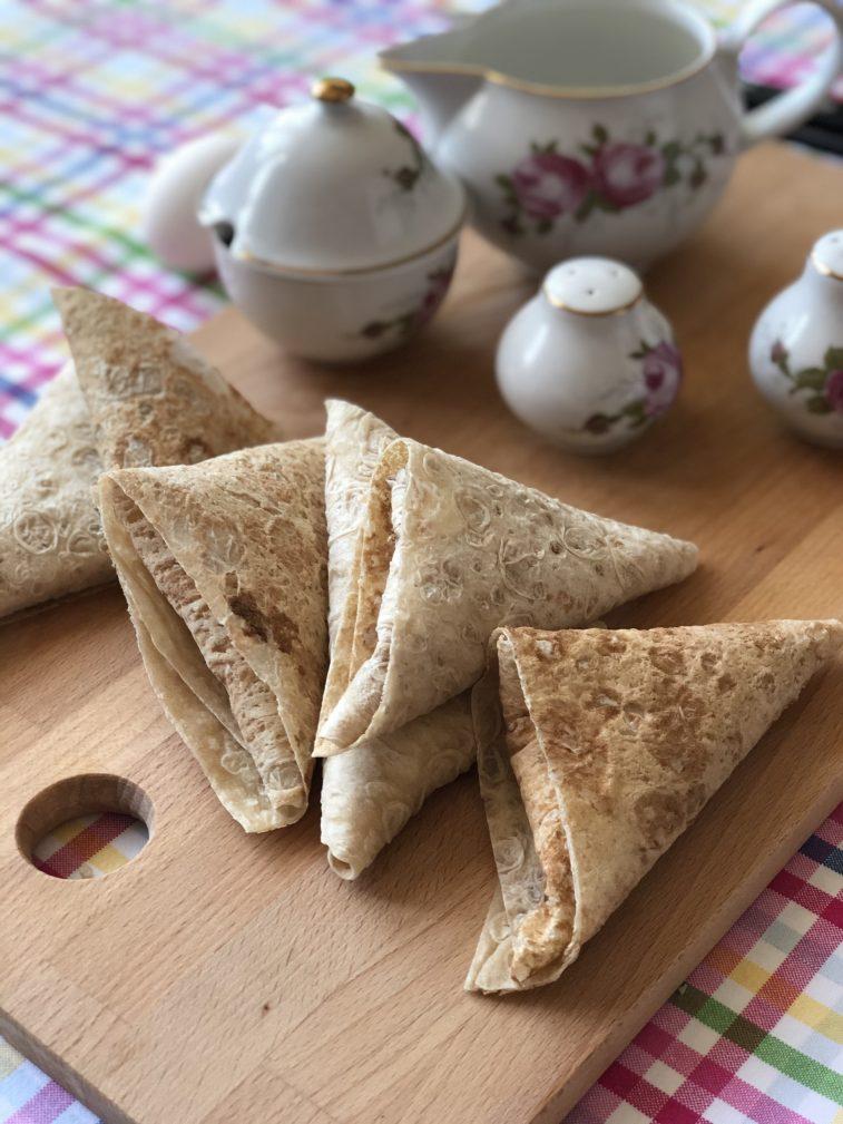 Фото рецепта - Треугольники из лаваша с сыром в кляре - шаг 6
