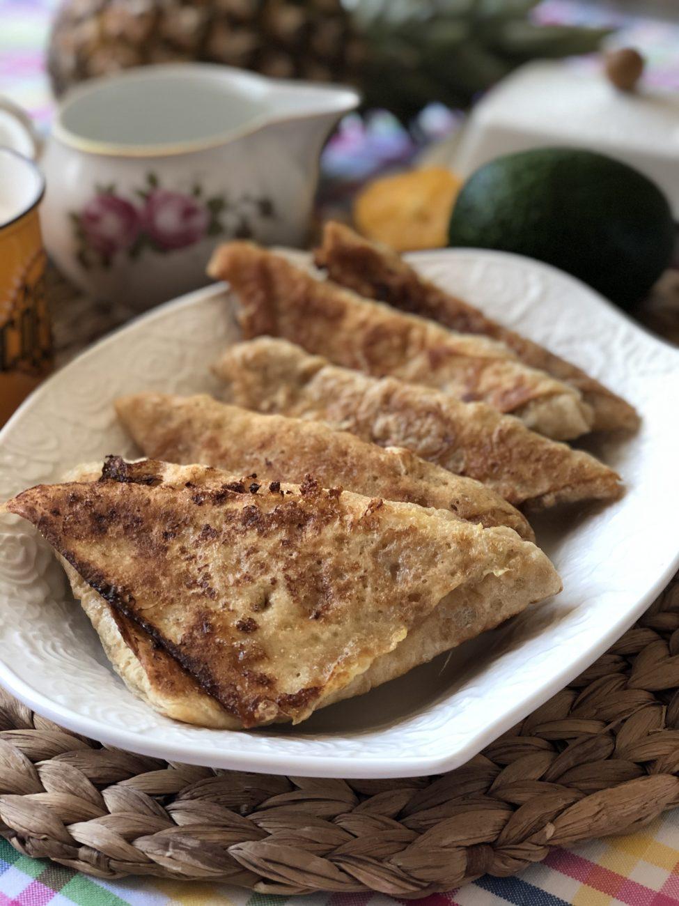 Треугольники из лаваша с сыром в кляре
