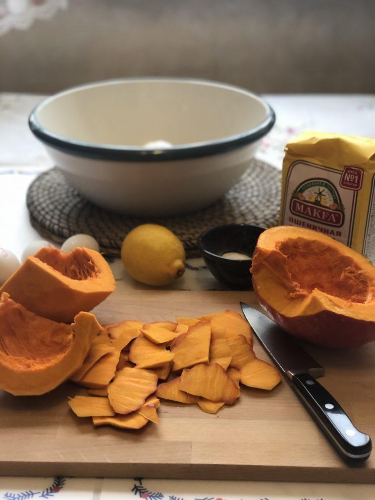 Фото рецепта - Пирог с тыквой и лимоном - шаг 2