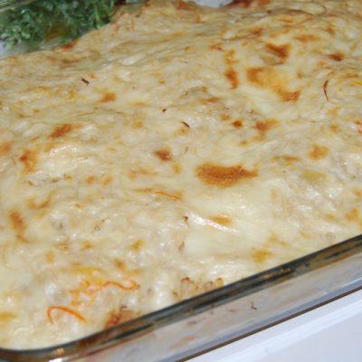 Картофельная запеканка с луком и сыром - рецепт с фото