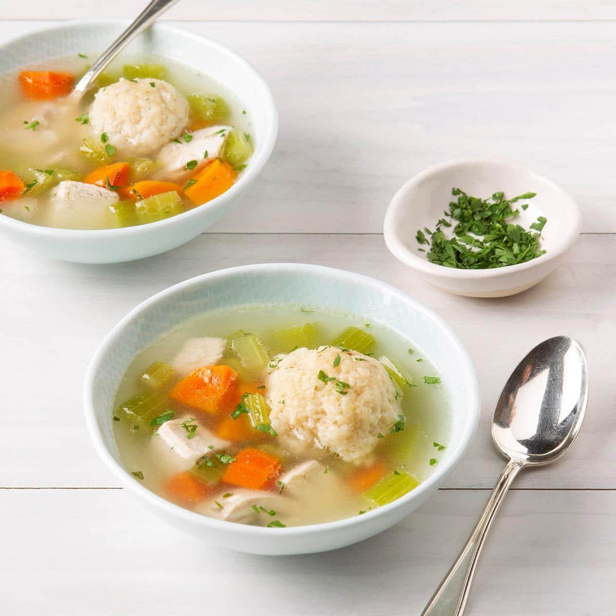 Курино-овощной суп с клецками
