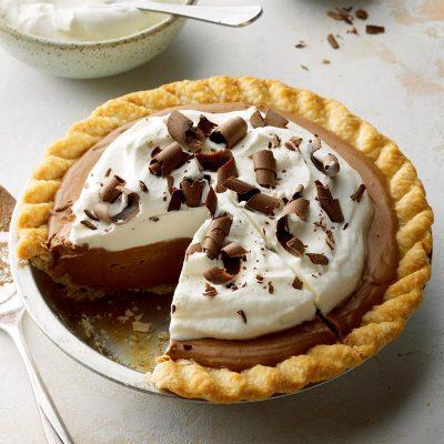 Открытый шоколадный пирог - рецепт с фото