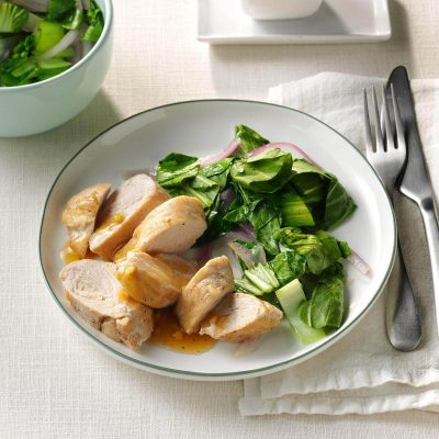 Запеченное филе индейки с чесночно-имбирным соусом - рецепт с фото