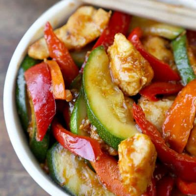 Жаркое из курицы с овощами на сковороде - рецепт с фото