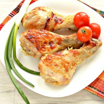 Куриные голени в кефире с чесноком, в духовке - рецепт с фото