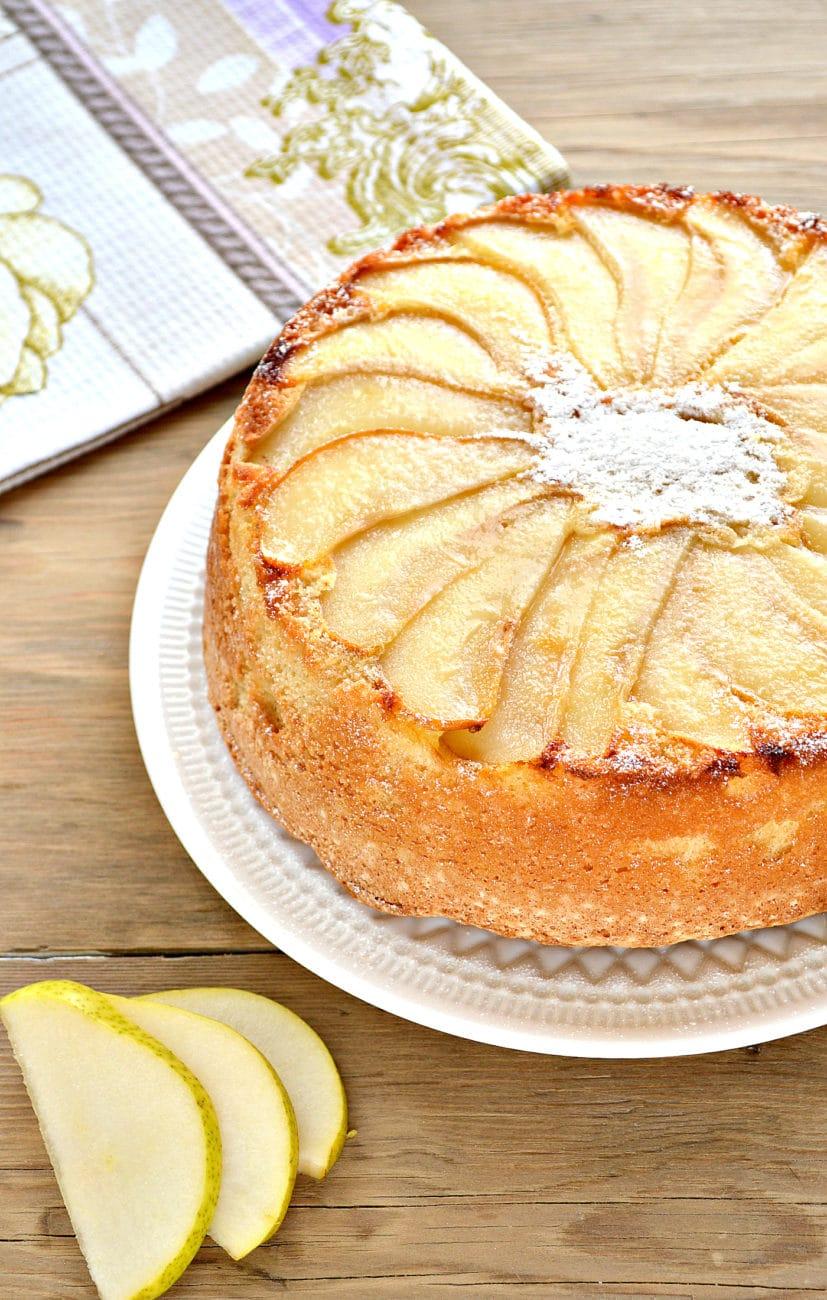 Быстрый грушевый пирог