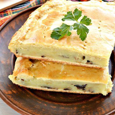 Пирог с картошкой и грибами - рецепт с фото