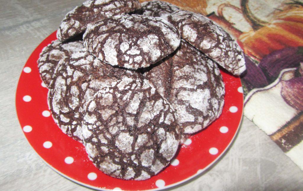 Фото рецепта - Мраморное шоколадное печенье (на растительном масле и какао) - шаг 5