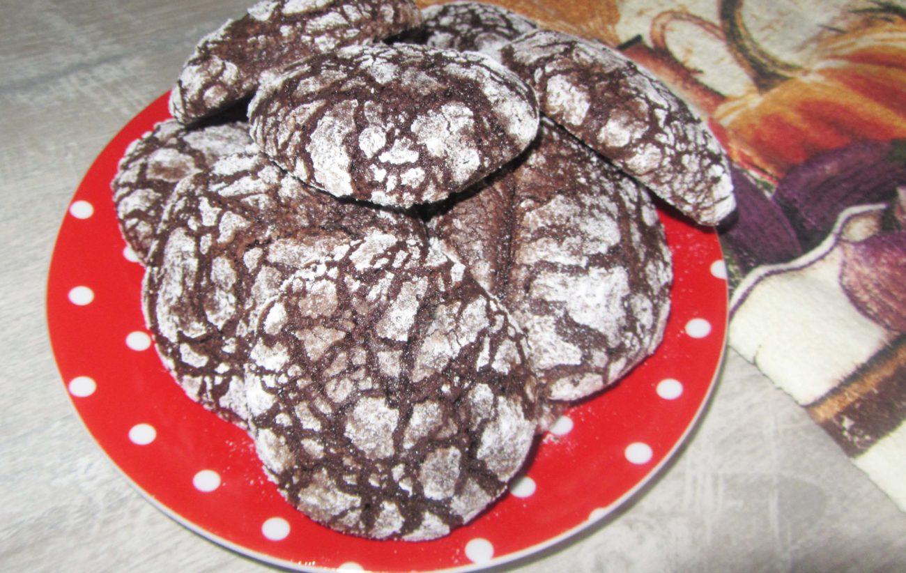 Мраморное шоколадное печенье (на растительном масле и какао)