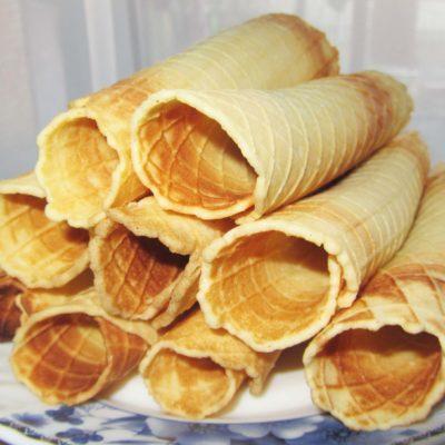 Вафельные трубочки - рецепт с фото