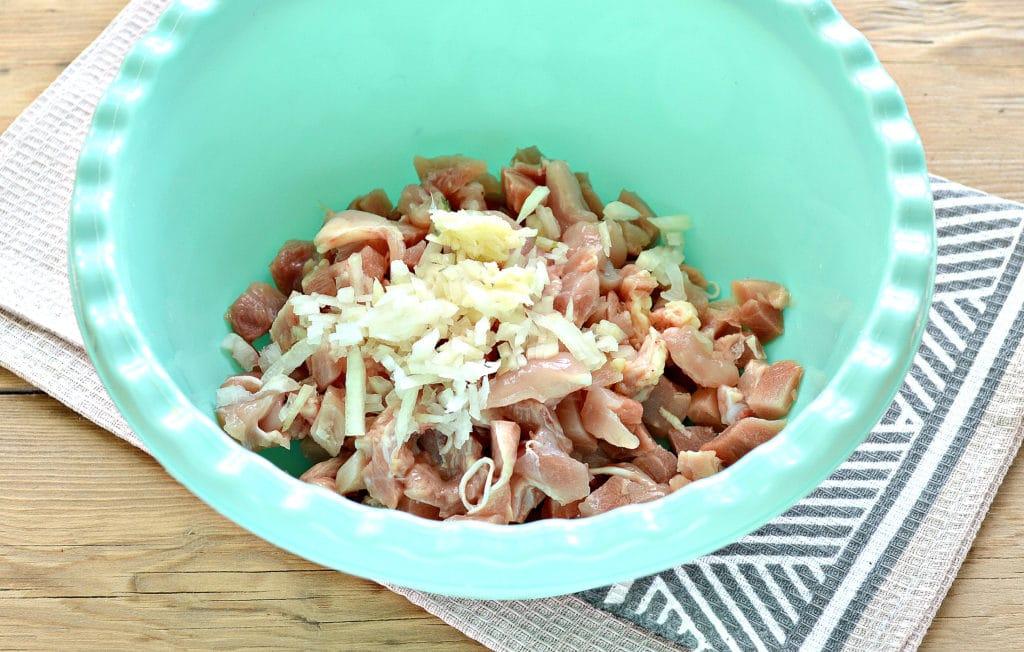 Фото рецепта - Жареное мясо по-албански из курицы - шаг 2