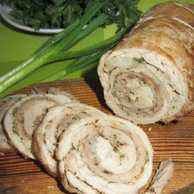 Свиной рулет в духовке - рецепт с фото