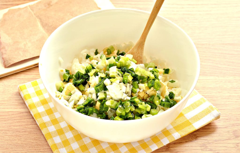 Фото рецепта - Рис с яйцом и луком (начинка для пирожков) - шаг 3