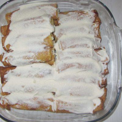 Фото рецепта - Запеченные блины с творогом и ванилью - шаг 4