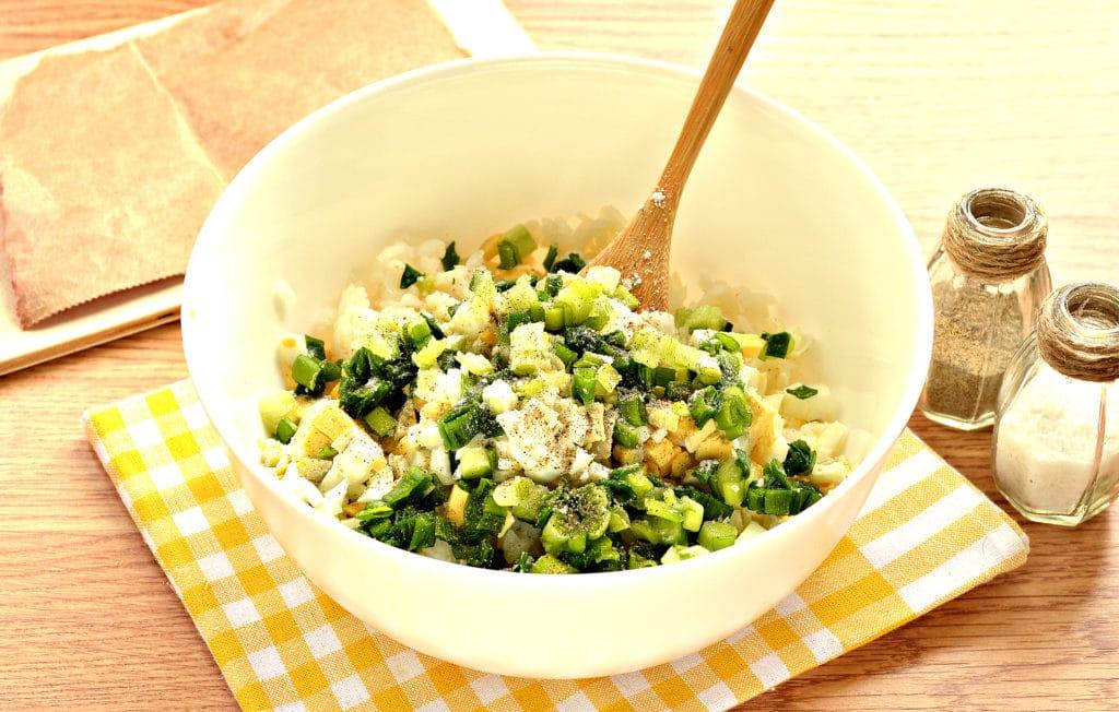 Фото рецепта - Рис с яйцом и луком (начинка для пирожков) - шаг 4